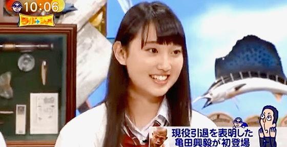 ワイドナショー画像 ワイドナ高校生で登場の青木珠菜(あおきじゅな)が緊張でほとんどしゃべれず 2015年10月25日