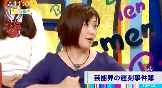 ワイドナショー画像 芸能人の遅刻話に会社員として信じられないという表情の佐々木恭子アナ 2015年10月25日