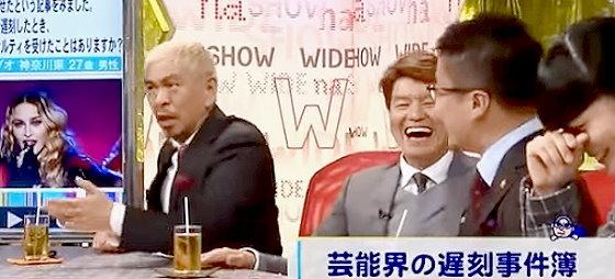 ワイドナショー画像 足にキスさせたくても足がないとボケる乙武洋匡に松本人志「かぶされへんねん」 2015年10月25日