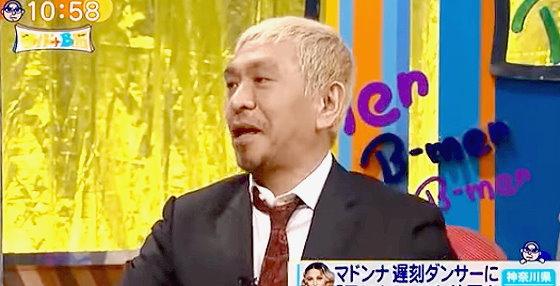 ワイドナショー画像 遅刻したスタッフに足キスを命じたマドンナに松本人志「ジョークだったのでは」 2015年10月25日