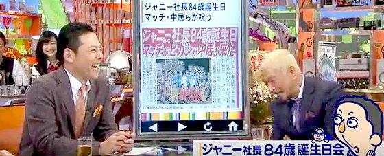 ワイドナショー画像 東野幸治 松本人志 芸能人の誕生日パーティーについて語る 2015年11月1日