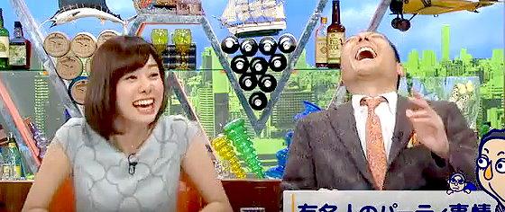 ワイドナショー画像 誕生日会に群がる人はパーソナリティに問題があるという解説に爆笑の山崎夕貴アナと東野幸治 2015年11月1日