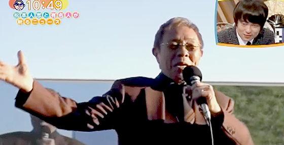 ワイドナショー画像 愛馬キタサンブラックが菊花賞を制し「まつり」を歌う北島三郎 2015年11月1日
