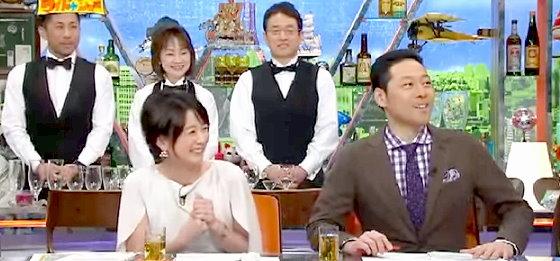 ワイドナショー画像 秋元優里アナ 東野幸治 関西芸人特有の声のボリュームは昭和を生き残るため 2015年4月12日