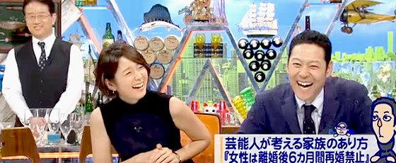 ワイドナショー画像 いつもシンクロした動きになる秋元優里アナと東野幸治 2015年11月8日