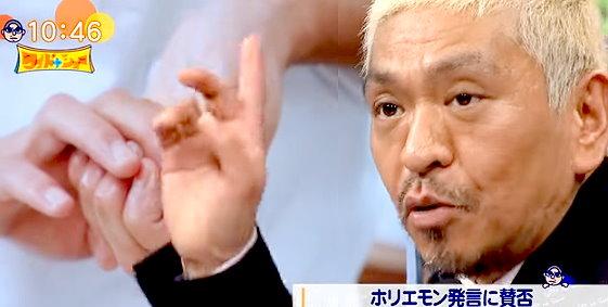 ワイドナショー画像 松本人志「ホリエモンが寿司名人なら違和感なく受け入れられる」 2015年11月8日
