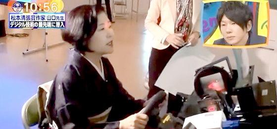 ワイドナショー画像 山口恵以子 目に光を当てて3Dナビゲーションの矢印を風景に出すナビシステムに「矢印がデカくて邪魔」 2015年11月8日