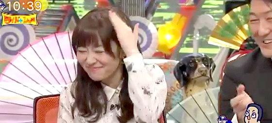 ワイドナショー画像 東野幸治「叱られちゃったね」 指原莉乃が頭ポンポン 2015年11月15日