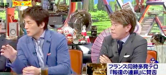 ワイドナショー画像 ヒロミの「報復の連鎖を止めるには誰かが我慢すべき」という意見に長嶋一茂が反論 2015年11月22日