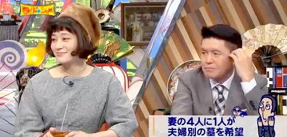 ワイドナショー画像 水曜日のカンパネラ・コムアイ ヒロミ「男性はほとんどが妻と同じ墓に入りたい」 2015年11月29日