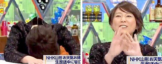 ワイドナショー画像 秋元優里アナウンサーが反町理さんを「鍋置き」と認めたことで「ダメです。これカットしてください」 2015年12月6日