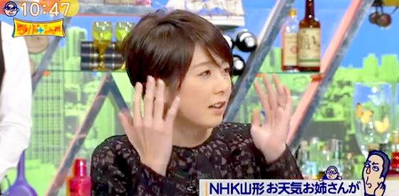 ワイドナショー画像 秋元優里アナウンサーがNHKの号泣お天気お姉さんに「早い段階でカーッとなったのかもしれない」 2015年12月6日