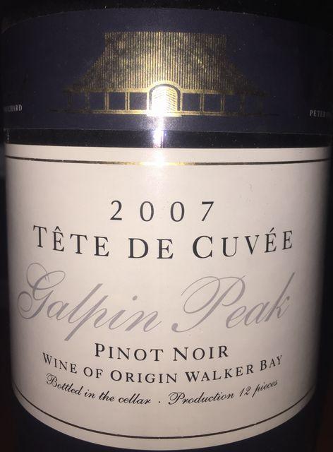 Tete De Cuvee Galpin Peak Pinot Noir 2007