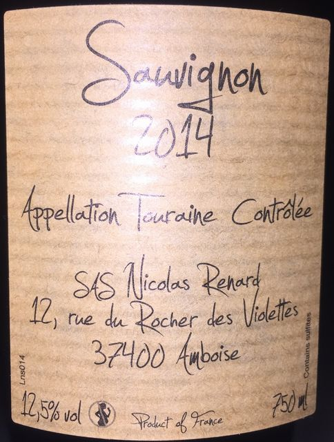Jeanee Sauvignon Nicolas Renard 2014 part2