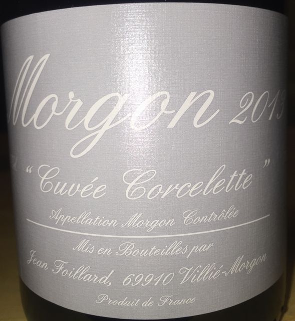 Morgon Cuvee Corcelette Jean Foillard 2013