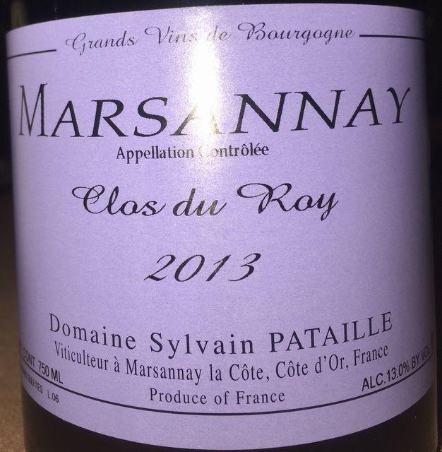 Marsannay Clos du Roy Domaine Sylvain Pataille 2013