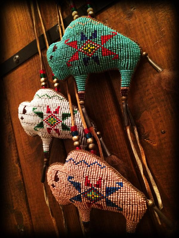 three beaded buffalo amulet 4