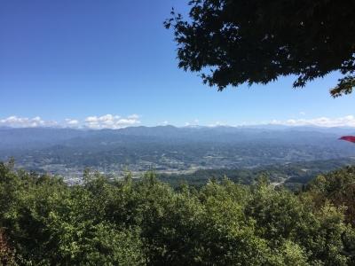 城山公園から南アルプス
