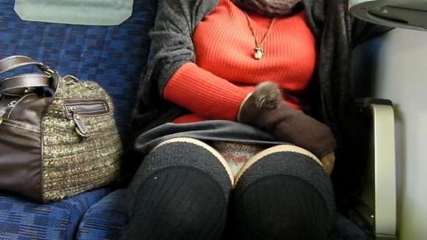 電車内パンチラ画像 14