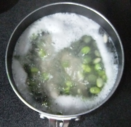 ササミと枝豆のポン酢和え④