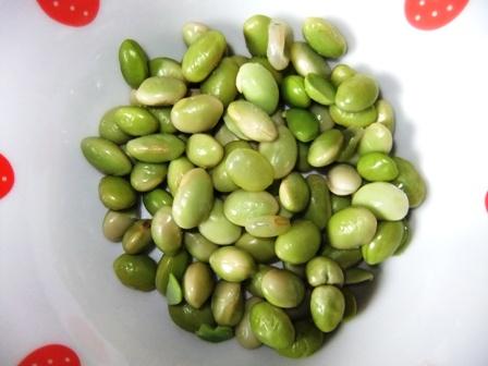 ササミと枝豆のポン酢和え⑤