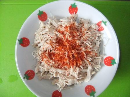 ササミと枝豆のポン酢和え⑦