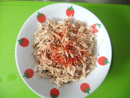 ササミと枝豆のポン酢和え⑨