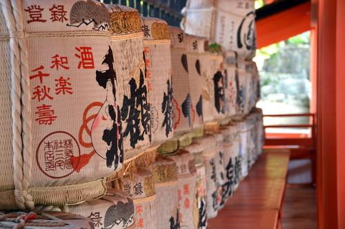Ritual sake barrels