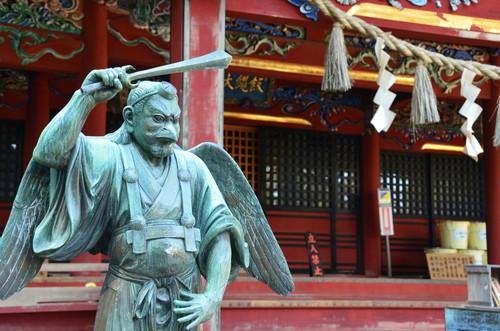 Tengu at one of the shrines on Takaosan
