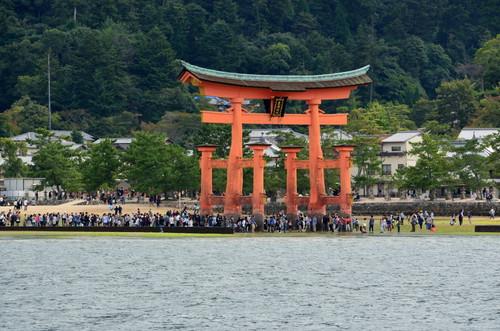 The floating torii of Itsukushima