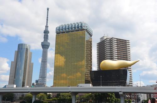 Tokyo Skytree and Asahi headquarters