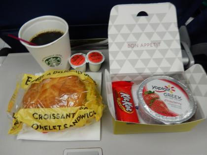 SFO+HNL2015.7デルタ航空シアトル発羽田行き機内食