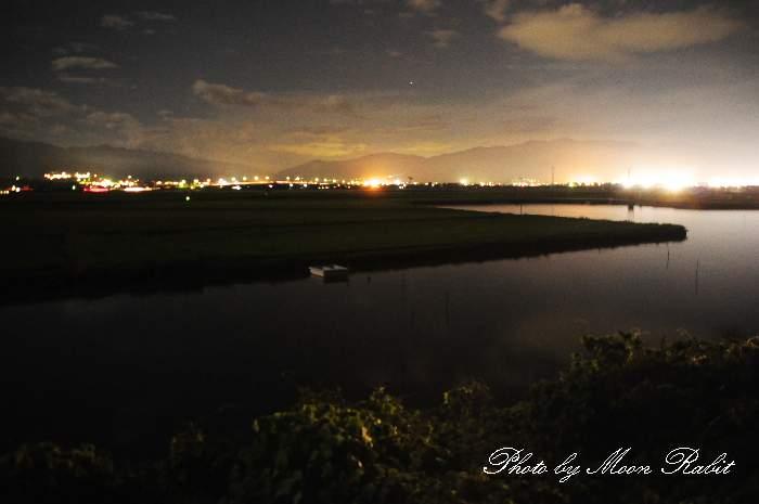 乙女川の夜景 愛媛県西条市禎瑞下