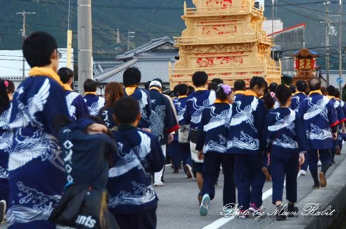 北之町中組屋台(だんじり) 祭り装束 西条祭り2013 伊曽乃神社