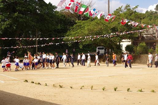 屋久島町船行集落の運動会