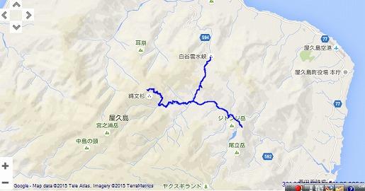 白谷入山縄文杉マップ