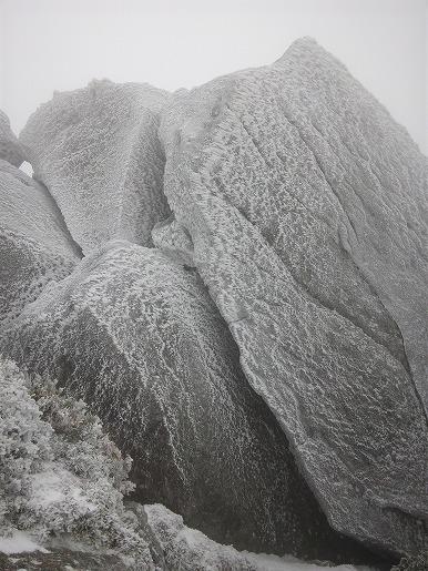 3月28日 宮之浦岳山頂の岩