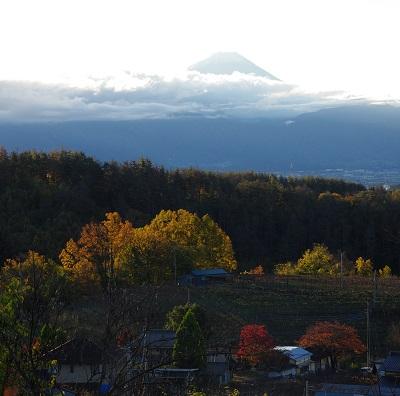 20151124富士山と紅葉