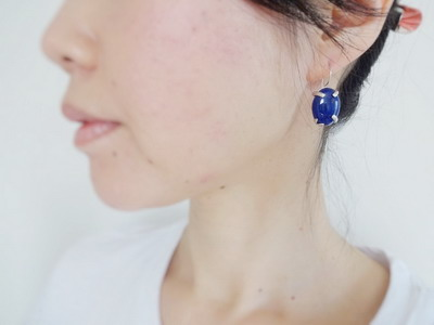 着用写真 lapis earrings