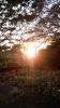 二上山の夕日
