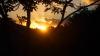 二上山からの夕日