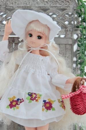 妹リカ シャーリングワンピース (5)