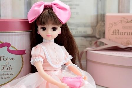ピンクカーディガン ドレスセット (5)