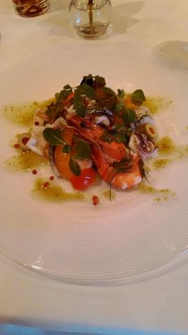 魚介類のサラダ我家楓