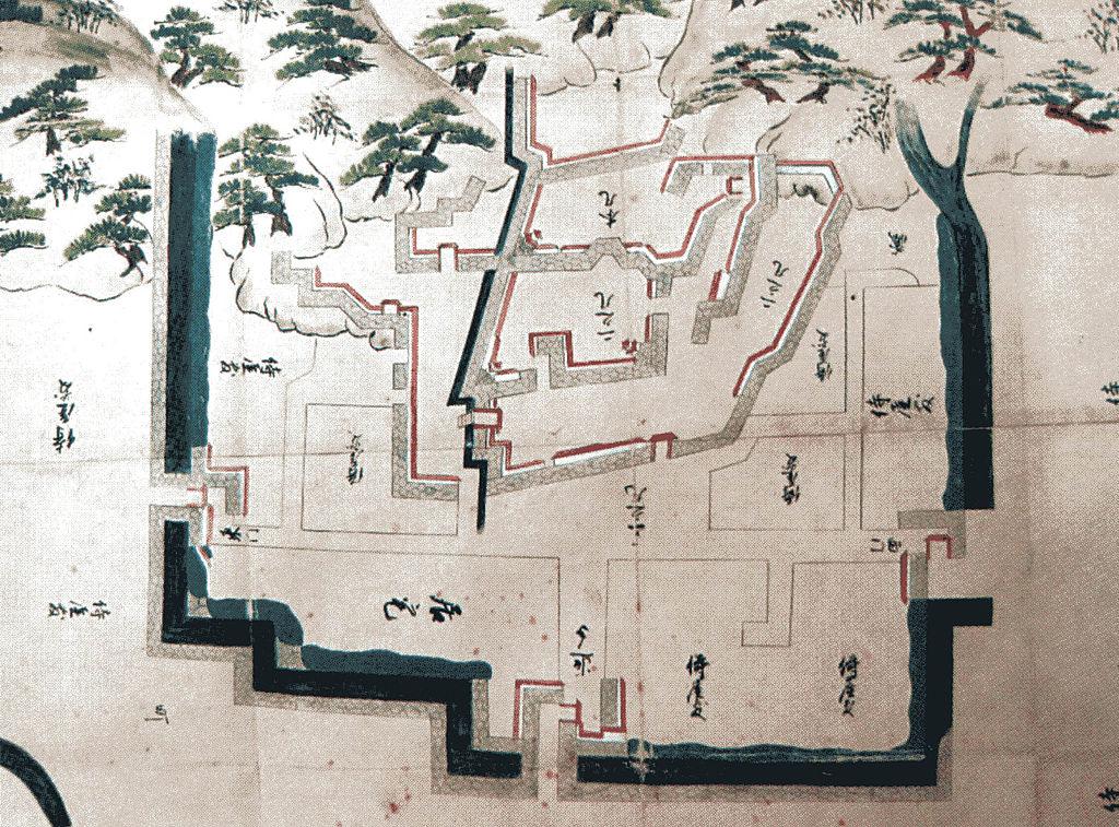 お城の見取り図