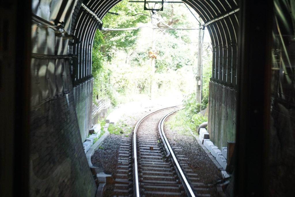 鎌倉行きの電車からみた極楽洞_2