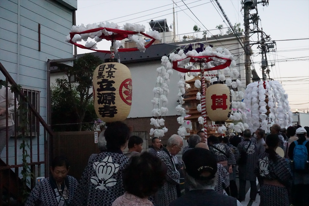 自宅すぐ近くの立源寺とやはり近くの常園寺と