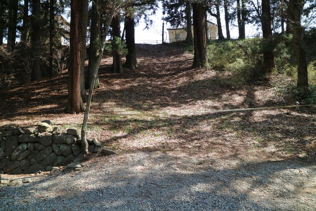 里曳きの際に使われる春社木落しの坂