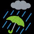 天候・雨と傘