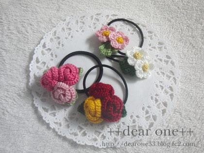 ちいさなお花のヘアアクセサリー160405_1